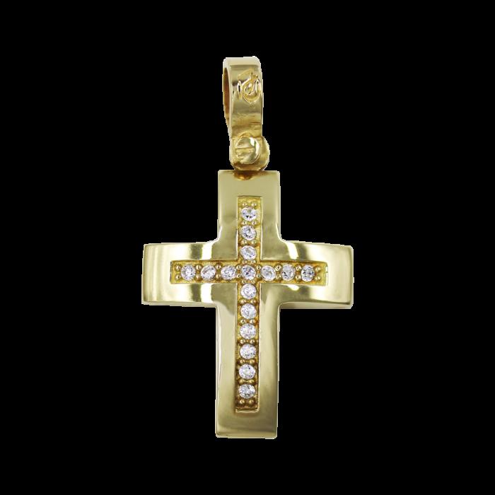 Γυναικείος χρυσός σταυρός 14Κ - ST1542