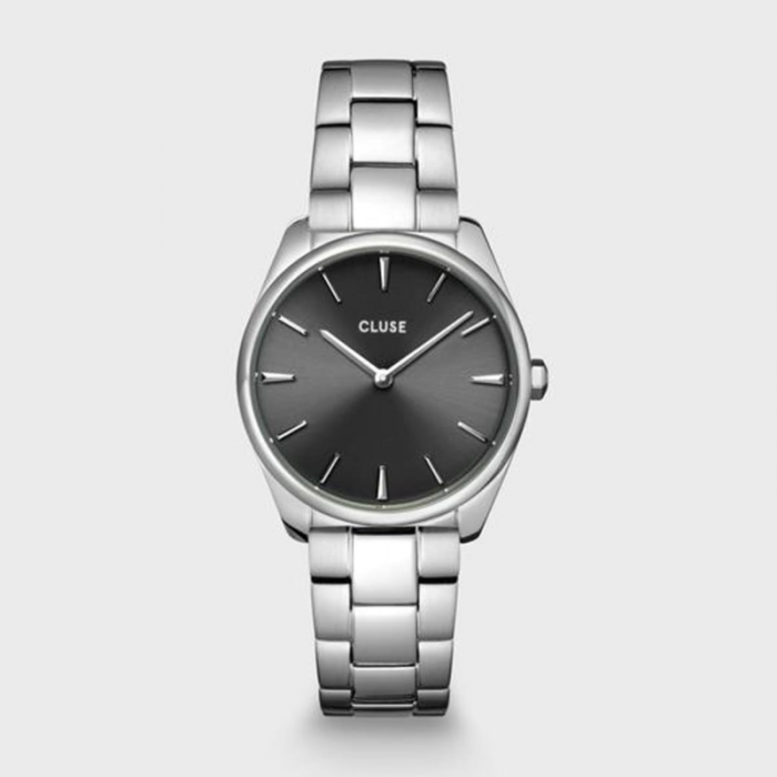 CLUSE Feroce Petite Steel Dark Grey, Silver - CW11202