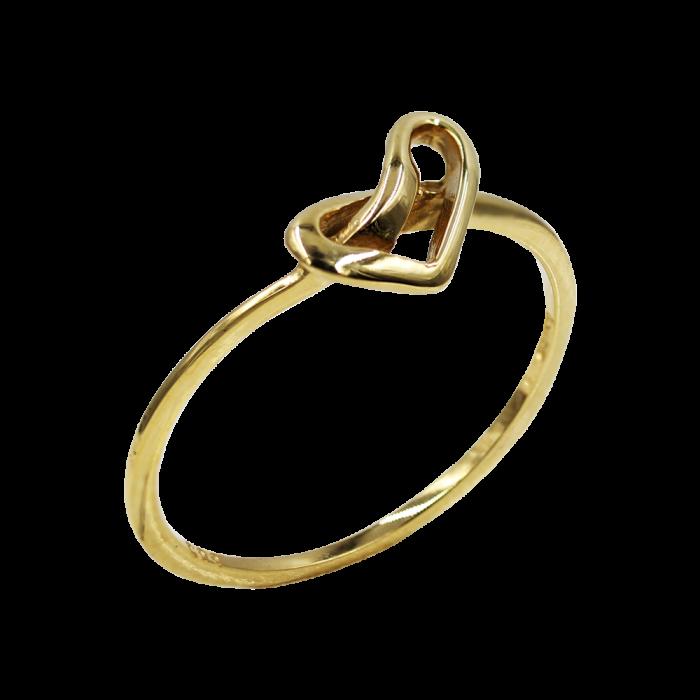 Δαχτυλίδι Καρδιά - Κόμπος Χρυσό 14Κ - D1079