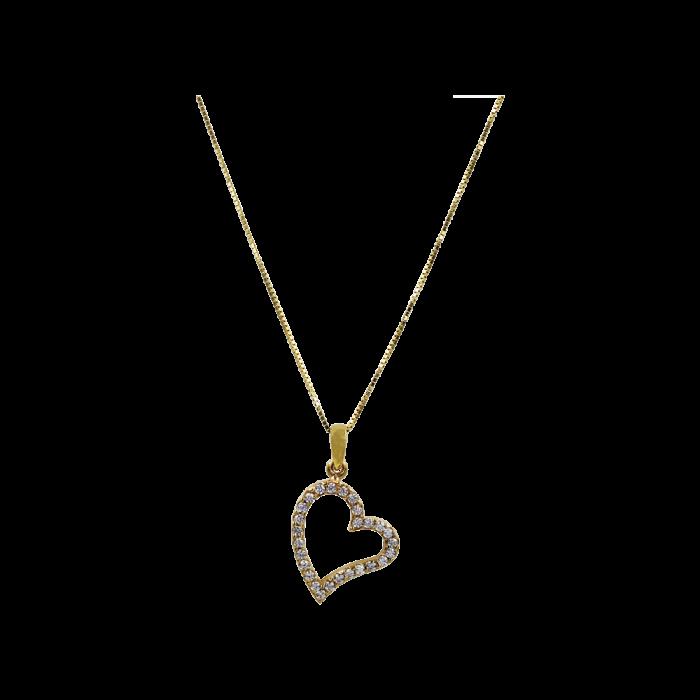 Κολιέ Καρδιά Χρυσό 14Κ - K1311