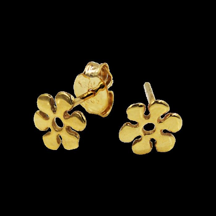 Σκουλαρίκια Λουλούδια Χρυσά 14Κ - PSK1092