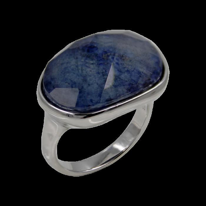 Δαχτυλίδι Ασημένιο Lapis - SLV1002