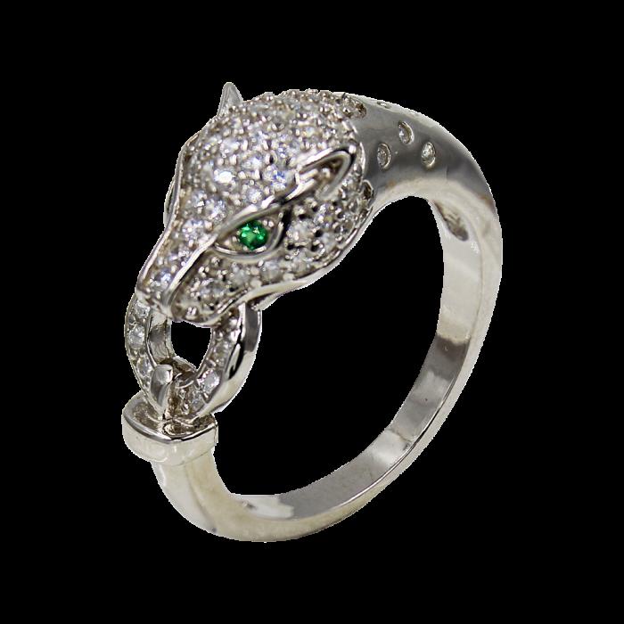 Δαχτυλίδι Ασημένιο Panther  - SLV1004