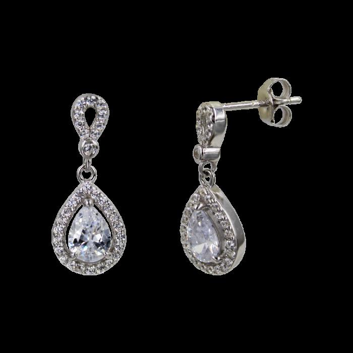 Σκουλαρίκια Ασημένια Princess - SLV1006