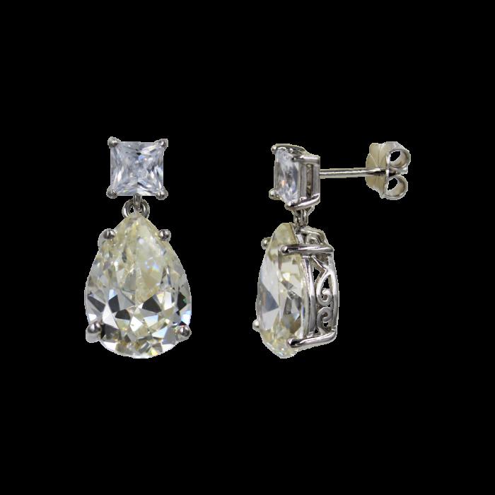 Σκουλαρίκια Ασημένια Drops - SLV1007