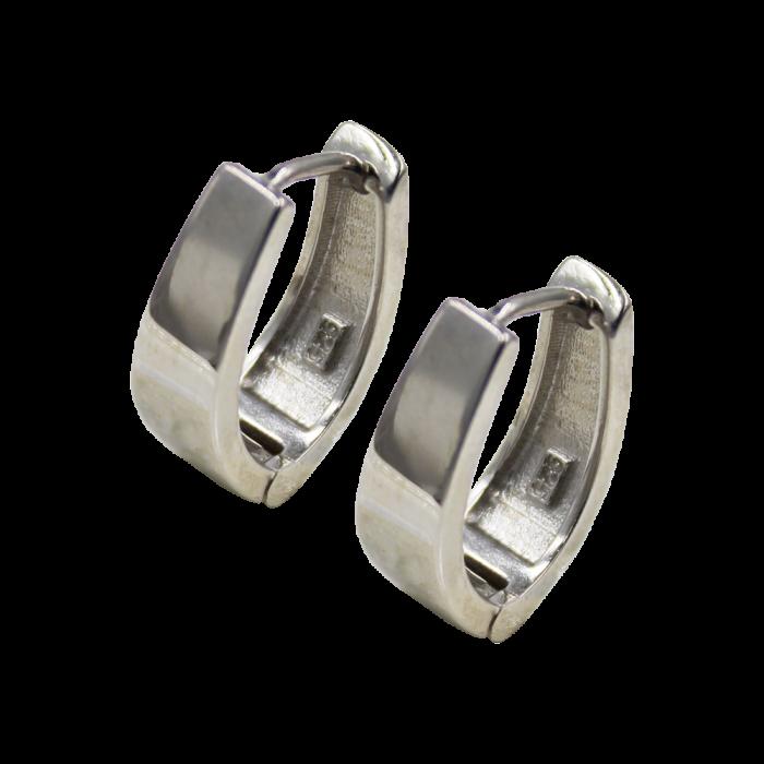 Σκουλαρίκια Ασημένια Hoops - SLV1010