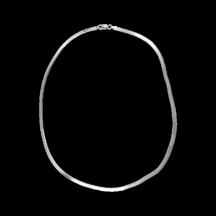 Γυναικεία Αλυσίδα Ασημένια Snake - SLV1012