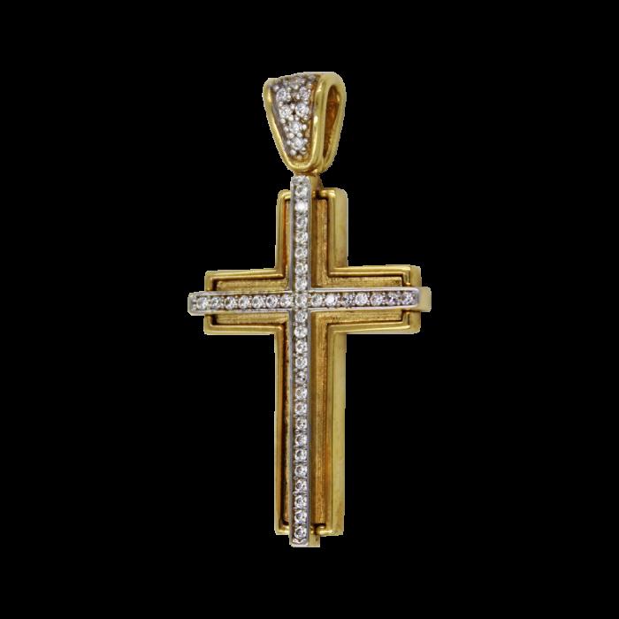 Γυναικείος χρυσός σταυρός 14Κ - ST1463