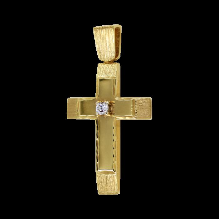 Γυναικείος χρυσός σταυρός 14Κ - ST1464