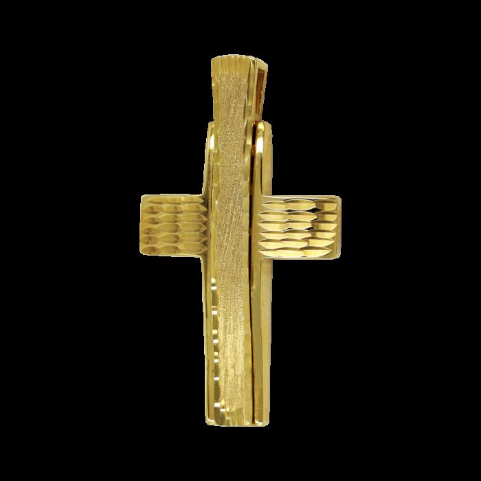 Ανδρικός χρυσός σταυρός 14Κ - ST1470