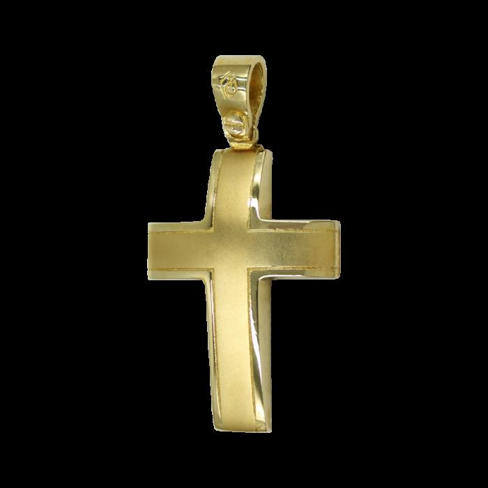 Ανδρικός χρυσός σταυρός 14Κ - ST1543