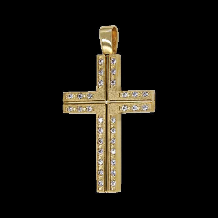 Γυναικείος χρυσός σταυρός 14Κ - ST1547