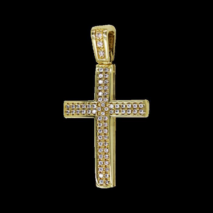 Γυναικείος χρυσός σταυρός 14Κ - ST1549