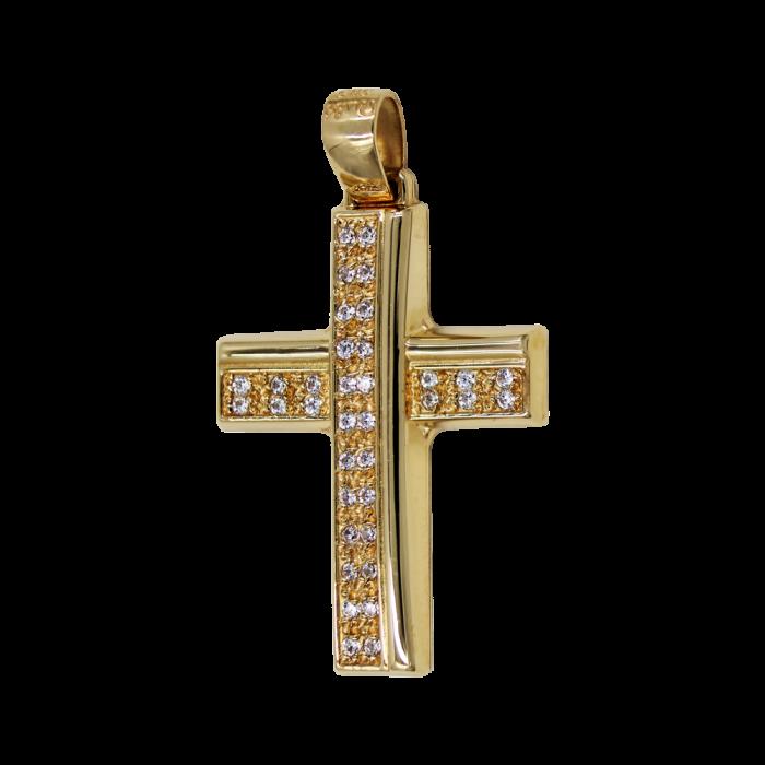 Γυναικείος χρυσός σταυρός 14Κ - ST1552