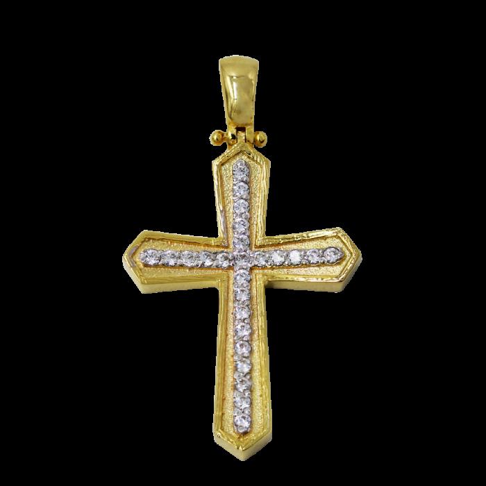 Γυναικείος χρυσός σταυρός 14Κ - ST1560