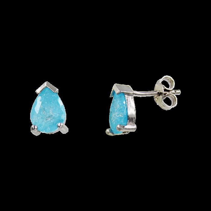 Σκουλαρίκια Ασημένια Baby Blue Drops - SLV1025B