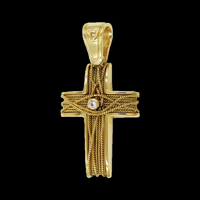 Γυναικείος χρυσός σταυρός 14Κ - ST1481