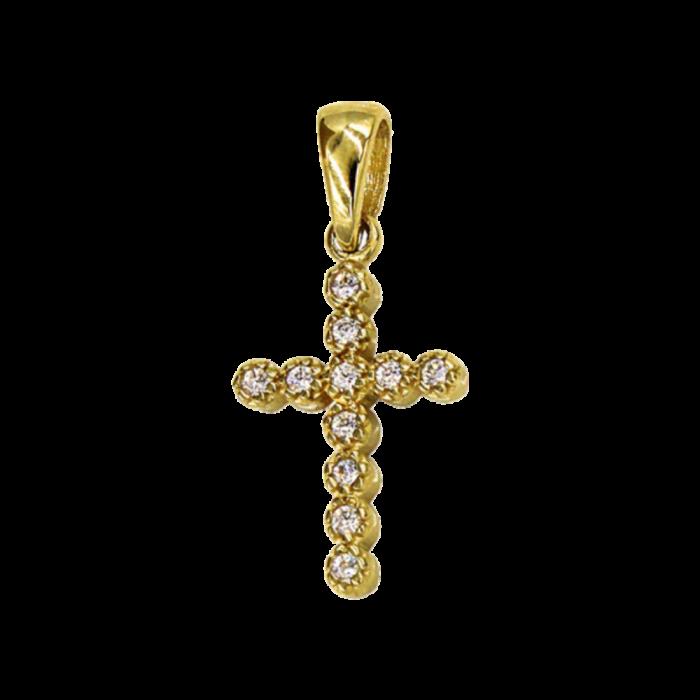 Γυναικείος χρυσός σταυρός 14Κ - ST1536K
