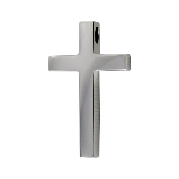 Ανδρικός λευκόχρυσος σταυρός 14Κ - ST1568