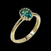 Δαχτυλίδι Δάκρυ Χρυσό Με Ζιργκόν Πέτρα 14Κ - D52474_0