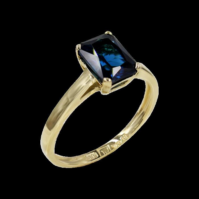 Δαχτυλίδι Χρυσό Με Ζιργκόν Πέτρα 14Κ - D52469