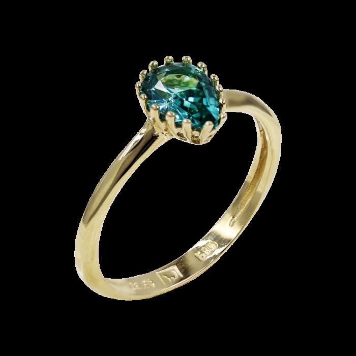 Δαχτυλίδι Δάκρυ Χρυσό Με Ζιργκόν Πέτρα 14Κ - D52474