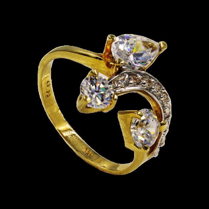 Γυναικείο δαχτυλίδι χρυσό 14Κ - MD1031