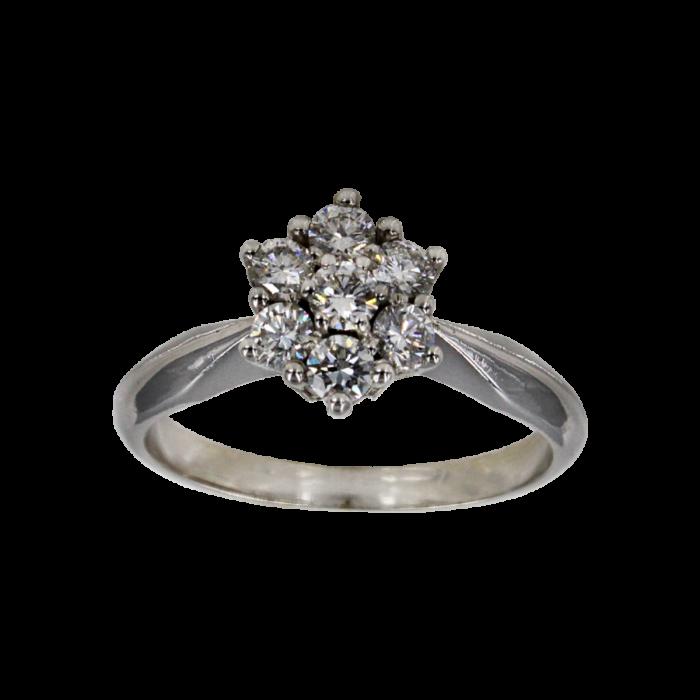 Γυναικείο δαχτυλίδι λευκόχρυσο 18Κ - MDB2064