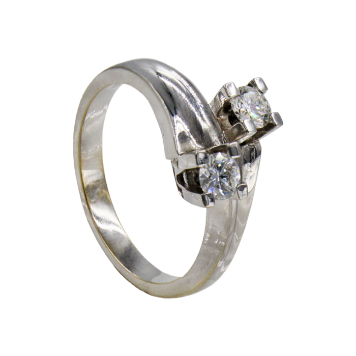 Γυναικείο δαχτυλίδι λευκόχρυσο 18Κ - MDB461