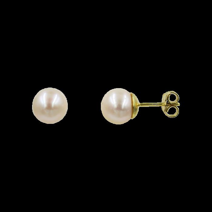 Σκουλαρίκια Χρυσά 14Κ Με Μαργαριτάρι - MRS1058