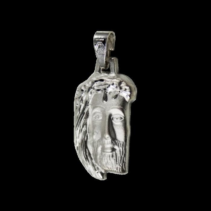 Κεφαλή Ιησού λευκόχρυση Κ9 - PM1125