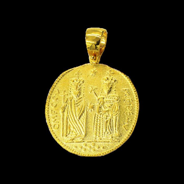 Κωνσταντινάτο χρυσό 14Κ δύο όψεων - PM1129