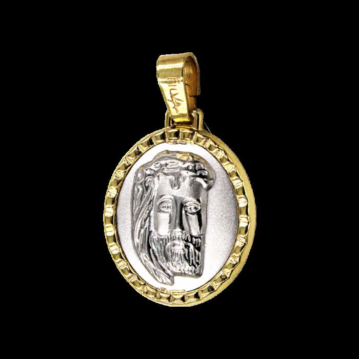 Κωνσταντινάτο - Ιησούς δίχρωμο 14Κ - PM1136