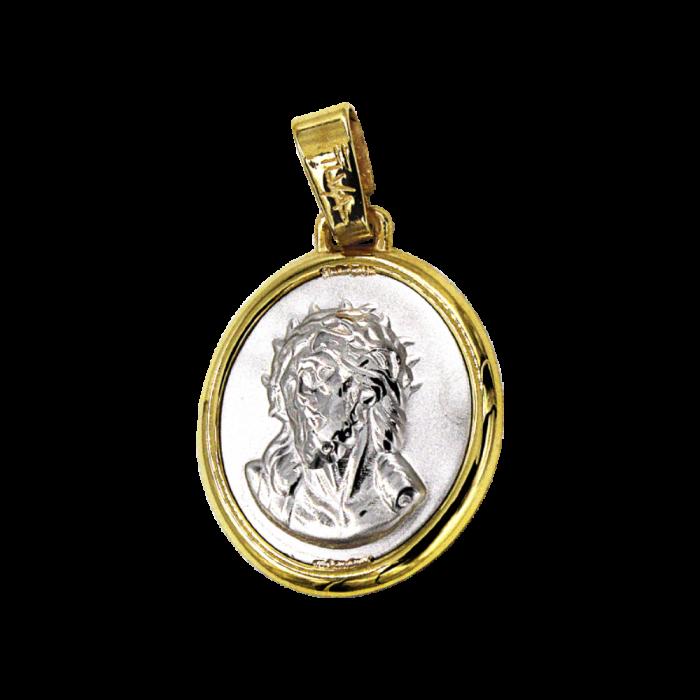 Κωνσταντινάτο – Ιησούς δίχρωμο 14Κ - PM1137