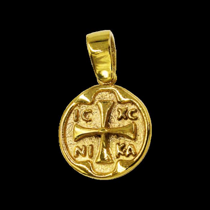 Κωνσταντινάτο χρυσό 9Κ δύο όψεων - PM1147