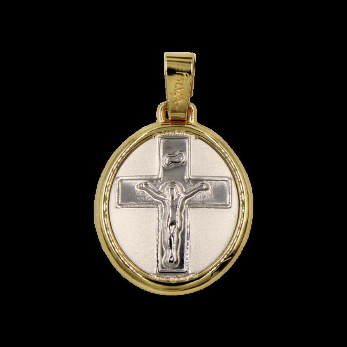 Κωνσταντινάτο – Ιησούς δίχρωμο 14Κ - PM1165