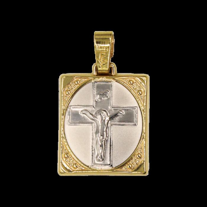 Κωνσταντινάτο – Ιησούς δίχρωμο 14Κ - PM1178