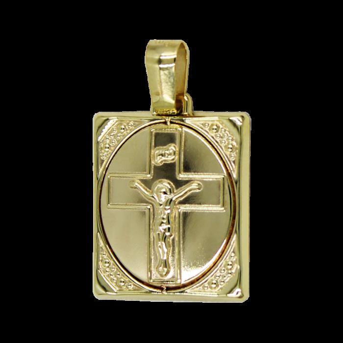 Κωνσταντινάτο Χρυσό 14Κ Δύο Όψεων - PM1178K