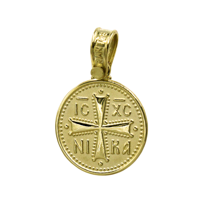 Κωνσταντινάτο Τριάντος χρυσό 14Κ δύο όψεων - PM1183
