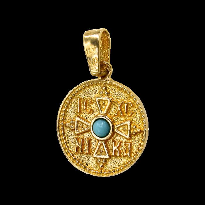 Κωνσταντινάτο χρυσό 14Κ δύο όψεων - PM1184