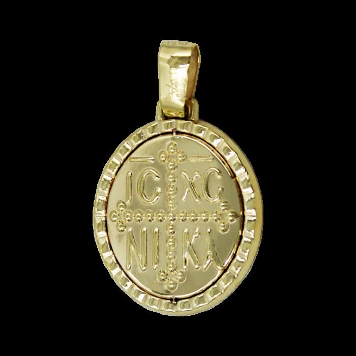 Κωνσταντινάτο Χρυσό 14Κ Δύο Όψεων - PM1196