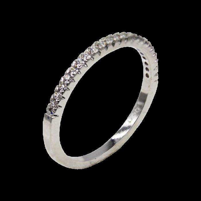 Σειρέ Δαχτυλίδι Λευκόχρυσο 14Κ - SD1009