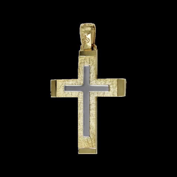Ανδρικός Δίχρωμος Σταυρός 14Κ - ST1574