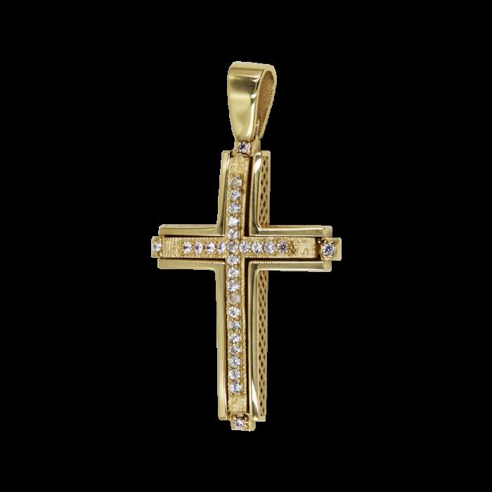 Γυναικείος Χρυσός Σταυρός 14Κ - ST1577