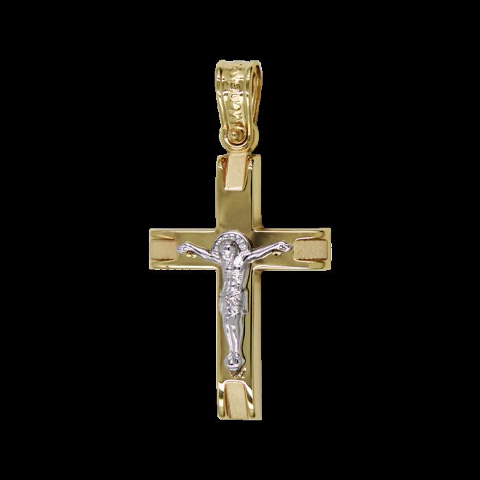 Ανδρικός Δίχρωμος Σταυρός 14Κ - ST1579