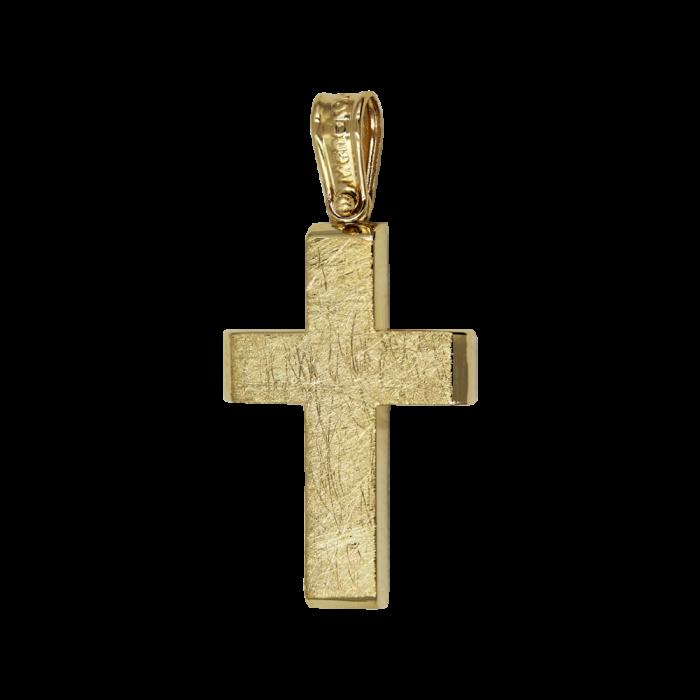 Ανδρικός Χρυσός Σταυρός 14Κ - ST1580