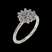 Δαχτυλίδι λευκόχρυσο με ζιργκόν πέτρες 14Κ - D1062_0