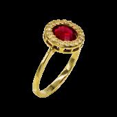 Δαχτυλίδι χρυσό με ζιργκόν πέτρες 14Κ - D2050_0