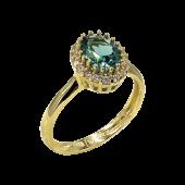 Δαχτυλίδι ροζέτα χρυσό με ζιργκόν πέτρες 14Κ - D52438_0