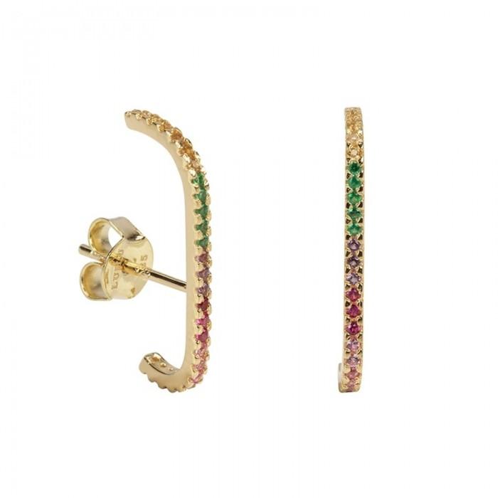 Σκουλαρίκια Honor Ασημένιο Multicolor - 60203810105C